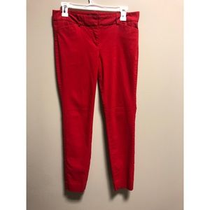 The Limited Red Skinny leg pants size 6 women's
